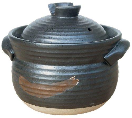 炊飯土鍋 ごはんや讃 黒 3合炊き