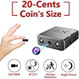 Smallest Hidden Spy Camera, Rettru Mini Secret HD Conceal Nanny Video Recorder with Night Vision and Motion Detection, Tiny, Compact Covert Security Camera for Home, Office, Car Dash Inside Spying