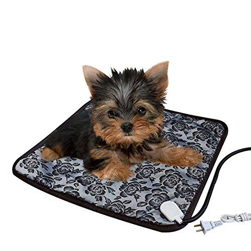 電気毛布 ざぶとん ペット用 猫 犬 うさぎ 温度調節可能 漏電保護 噛み付く防止 コントローラ 防水上品質 暖かい 寒さ対策 ギフト 45×45cm