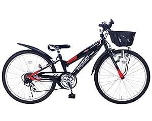 My Pallas(マイパラス) 子ども用自転車 M-824 24インチ 6段変速 CIデッキ付 ブラック
