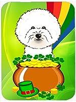 Caroline's Treasures Bichon Frise St. Patrick's Day Mouse Pad Hot Pad or Trivet Multicolor (BB1961MP) [並行輸入品]