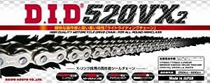 D.I.D(大同工業)バイク用チェーン カシメジョイント付属 520VX2-110ZB S&S(シルバー) X-リング 二輪 オートバイ用