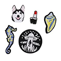 SONONIA アップリケ 口紅/犬 ファッションパッチ 5枚入り 縫製用品 手芸素材