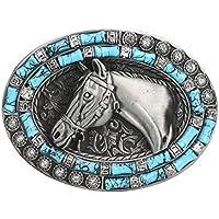 Horse Belt Buckle-Western Cowboy Rodeo Belt Buckles for Men Women