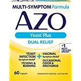 AZO Yeast Plus Dual Relief Homeopathic Medicine | Yeast Infection Symptom Relief: Itching & Burning | Vaginal Symptom Relief: