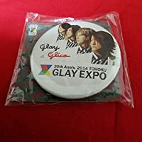 GLAY EXPO 2014 TOHOKU グリコ コラボ オリジナル 缶バッジ ① 東北 20th ANNIVERSARY glico 缶バッチ バッジ バッチ