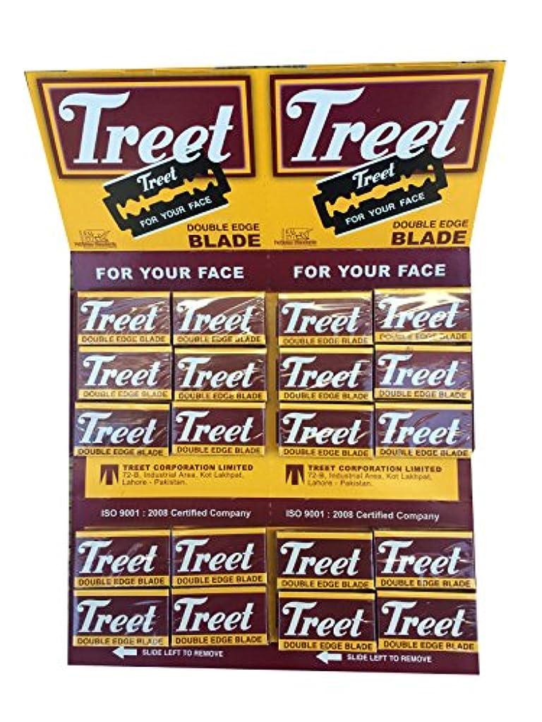 誰ののぞき穴軍団Treet Carbon Steel 両刃替刃 200枚入り(10枚入り20 個セット)【並行輸入品】