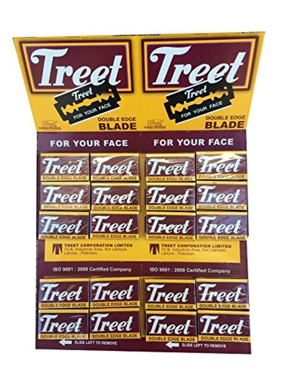 貪欲牧草地代表Treet Carbon Steel 両刃替刃 200枚入り(10枚入り20 個セット)【並行輸入品】