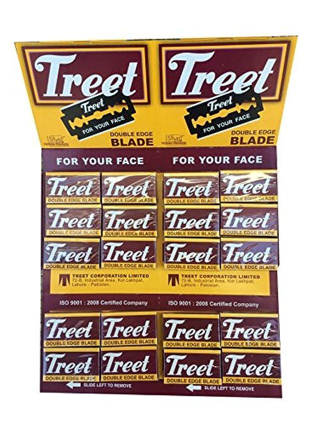 犯人表面火傷Treet Carbon Steel 両刃替刃 200枚入り(10枚入り20 個セット)【並行輸入品】
