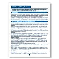 ComplyRight HIPAA Noticeのプライバシープラクティスフォーム100pk
