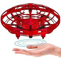 Powerbeast 子供 プレゼント 男の子 女の子 ドローン ラジコン ミニドローン ジェスチャー制御 自動回避障害機能 2段スビート調整 ドローン 小型 高度維持 LED 日本語取扱書付き クリスマス 誕生日 4-12歳 おもちゃ ヘリコプター ドローン玩具 (drone-red)