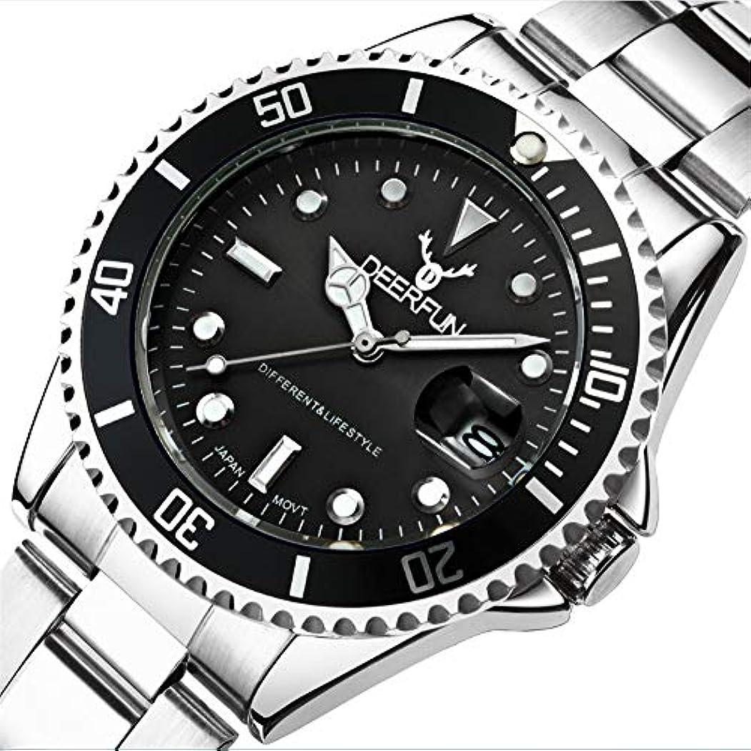 からかうバトル委任防水腕時計メンズ高級ブランドカジュアルステンレススチールスポーツ腕時計クォーツ腕時計メンズ腕時計 (A)
