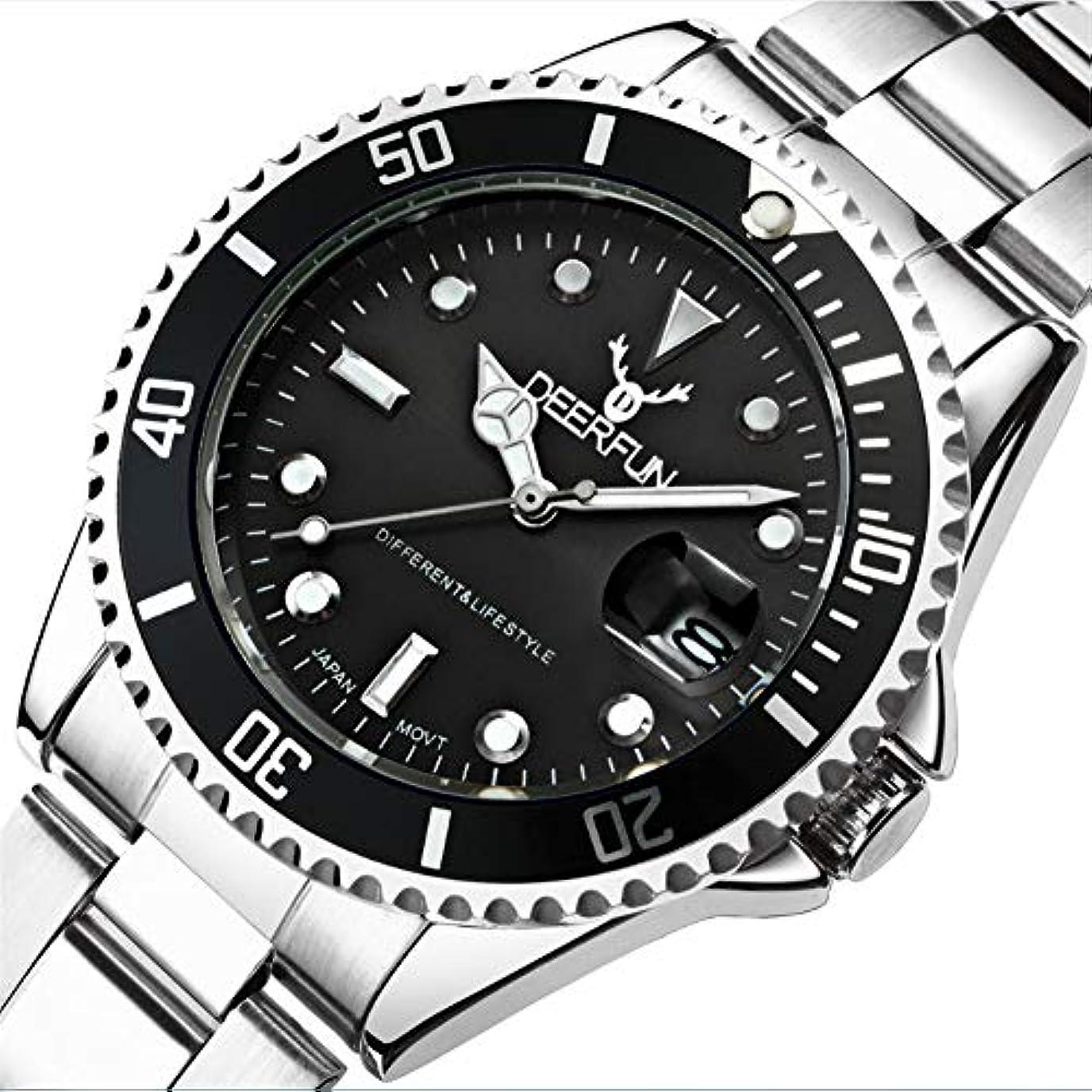 一時的スペア気候の山防水腕時計メンズ高級ブランドカジュアルステンレススチールスポーツ腕時計クォーツ腕時計メンズ腕時計 (A)