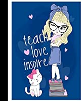 """Composition Notebook: Hand Drawn Cute Girl With Cat (1) 2.Jpg3.Pdf 
