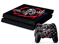 Sony PS4 Playstation 4 Skin Design Foils Faceplate Set - Skeleton Design