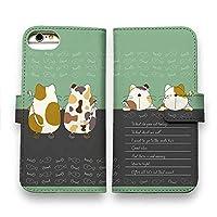 AnglersLife 手帳型 スマホケース iPhone アイフォン 2匹の猫の会話 【iPhone6s】