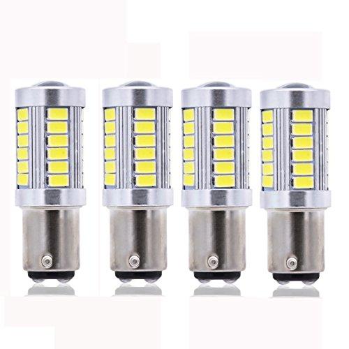 KaTur 4個ホワイト1157 S25 BAY15D 1210 54-SMD LED車のライト電球バックアップ信号ウインカーテールライト電球12Vの交換1016 1034 2057 7528 1157A 1178A LEDライト