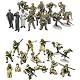 2 Sets of Tamiya Military Assembly Models - WW2 Infantry - US Army and German Panzer Grenadier (Japan Import)