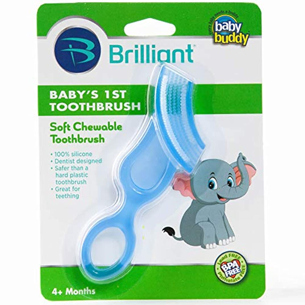 宮殿気分が良いピルファーBaby Buddy Baby's 1st Toothbrush Stage 4 for Babies/Toddlers, Kids Love Them, Blue by Baby Buddy