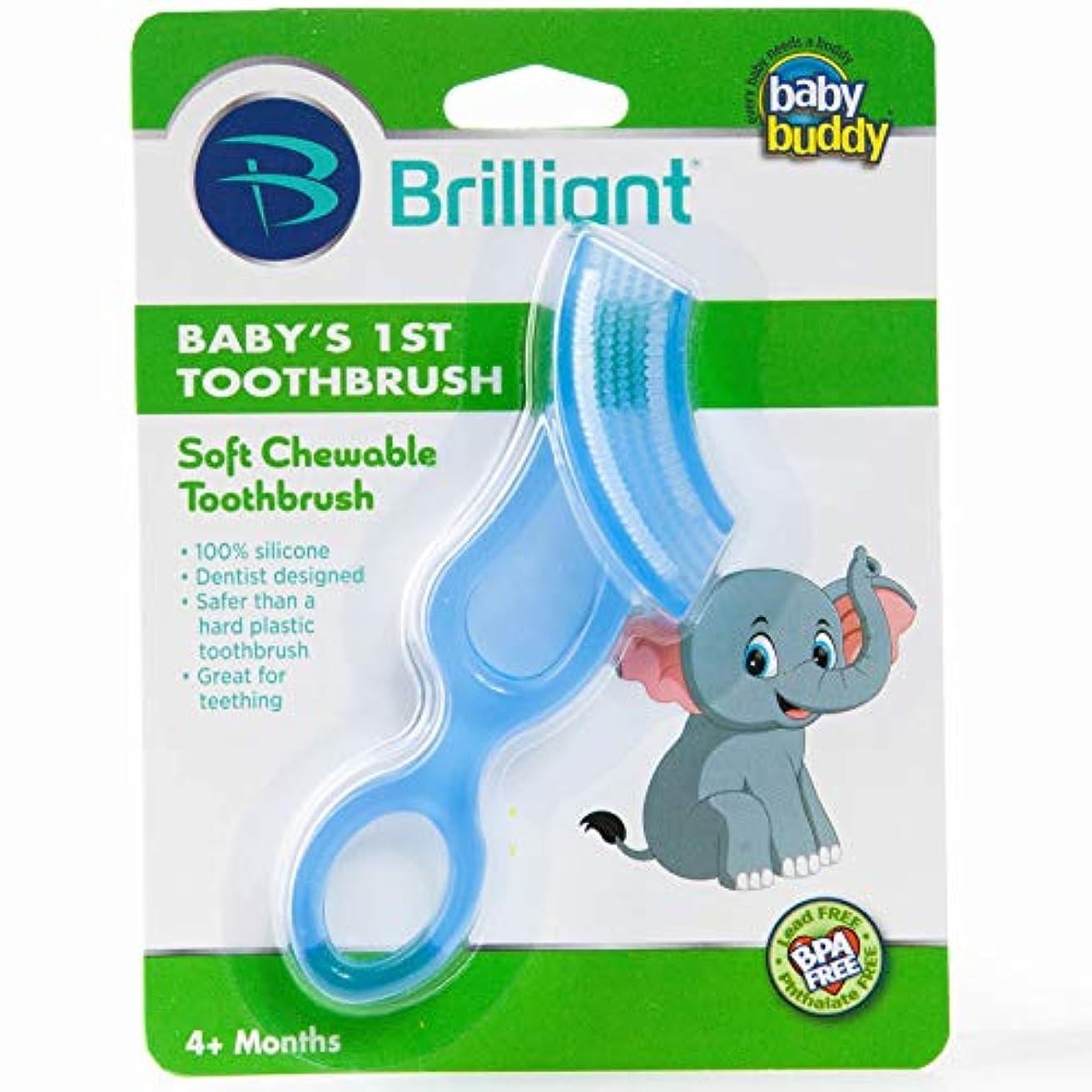 木材単に偽善者Baby Buddy Baby's 1st Toothbrush Stage 4 for Babies/Toddlers, Kids Love Them, Blue by Baby Buddy