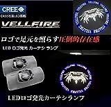 CREEチップ搭載!ヴェルファイア VELLFIRE カーテシランプ TOYOTA/トヨタ ヴェルファイア 30 系 20系 LED ロゴ発光 カーテシ ランプ 2個セット 30系 20系 ヴェルファイア プロジェクター LED ドアカーテシランプ ウェルカム ユニット交換 取付簡単 ルームランプ   (グレーVELLFIRE )