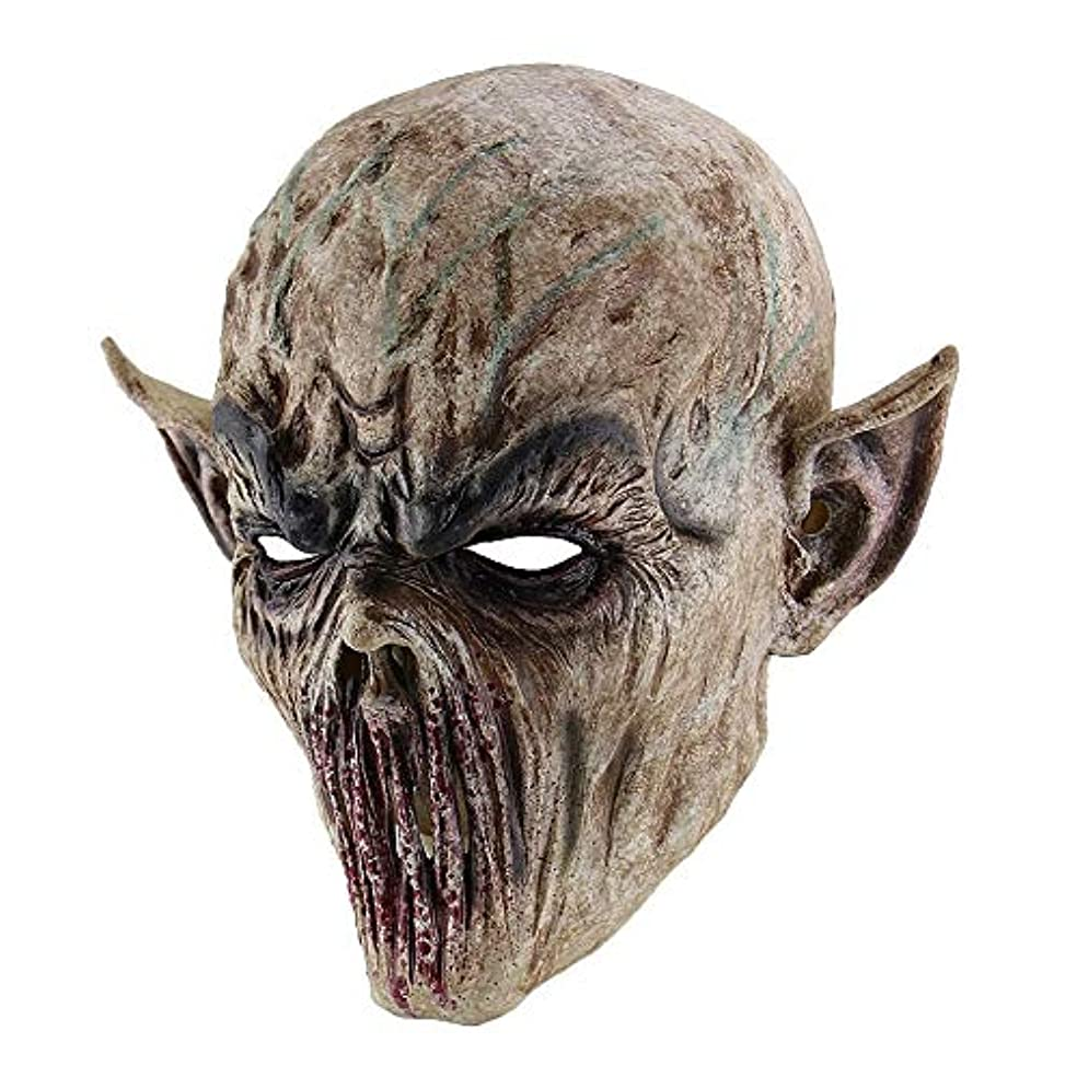 と持続するブランド名不気味な怖いハロウィーン不気味なラテックスマスク、大人のパーティーコスプレ衣装、仮装衣装,Zombie