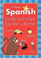 スペイン語Write & Wipe Activity Books with Dry Eraseマーカー( Pack of 2)