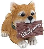 ダイカイ 置物 インテリア オシャレ 動物 柴犬 welcome W11.5×D17×H12cm 72789