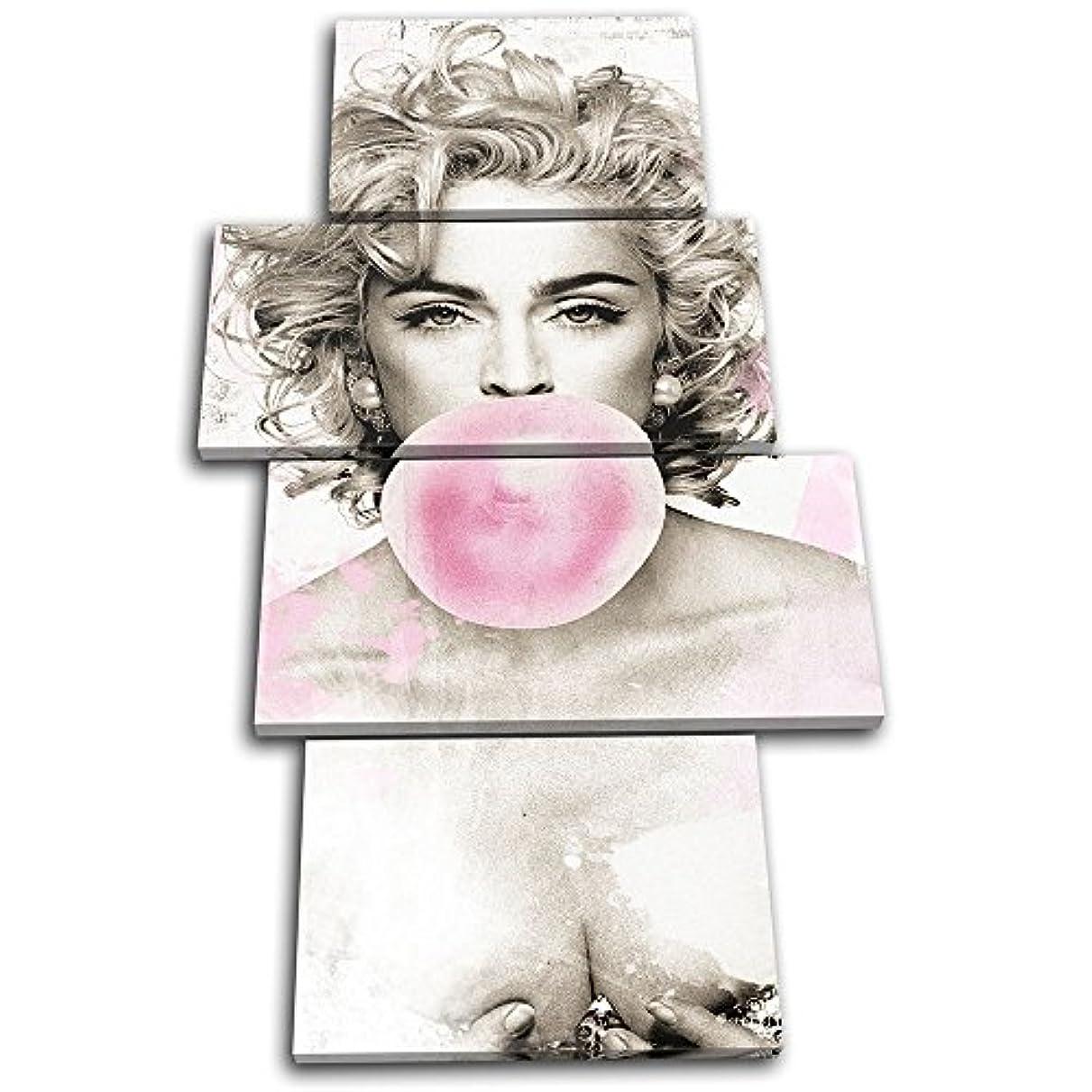 物理焦がす気味の悪い太字ブロックデザイン – Madonna PopアートIconic Celebritiesマルチキャンバスアートプリントボックスフレーム壁吊り下げ – Hand Made In The UK – Framed and ready to hang (B) 120x68cm 13-7317(00B)-MP04-PO-B