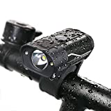 【改良版】超高輝度LED自転車ライト USB充電式 ヘッドライト IP65防水 L2 真実350ルーメン明るい ジェントス アルミニウム合金+ABS HYD-018-Z