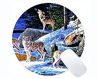 Yantengの賭博の円形のマウスパッドの習慣、動物のオオカミの壁の賭博のマウスパッドのマット