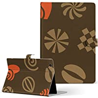 igcase d-01J dtab Compact Huawei ファーウェイ タブレット 手帳型 タブレットケース タブレットカバー カバー レザー ケース 手帳タイプ フリップ ダイアリー 二つ折り 直接貼り付けタイプ 011831 ハート 花 模様