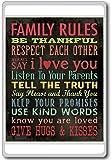 Family Rules - motivational inspirational quotes fridge magnet - ?????????
