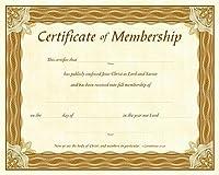 Membership Certificate (Pk of 6) - Parchment [並行輸入品]
