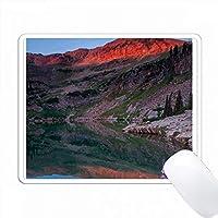 サンライズのCecret Lake、Sugarloaf Mountain、Uinta-Wasatch-Cache、Utah。 PC Mouse Pad パソコン マウスパッド