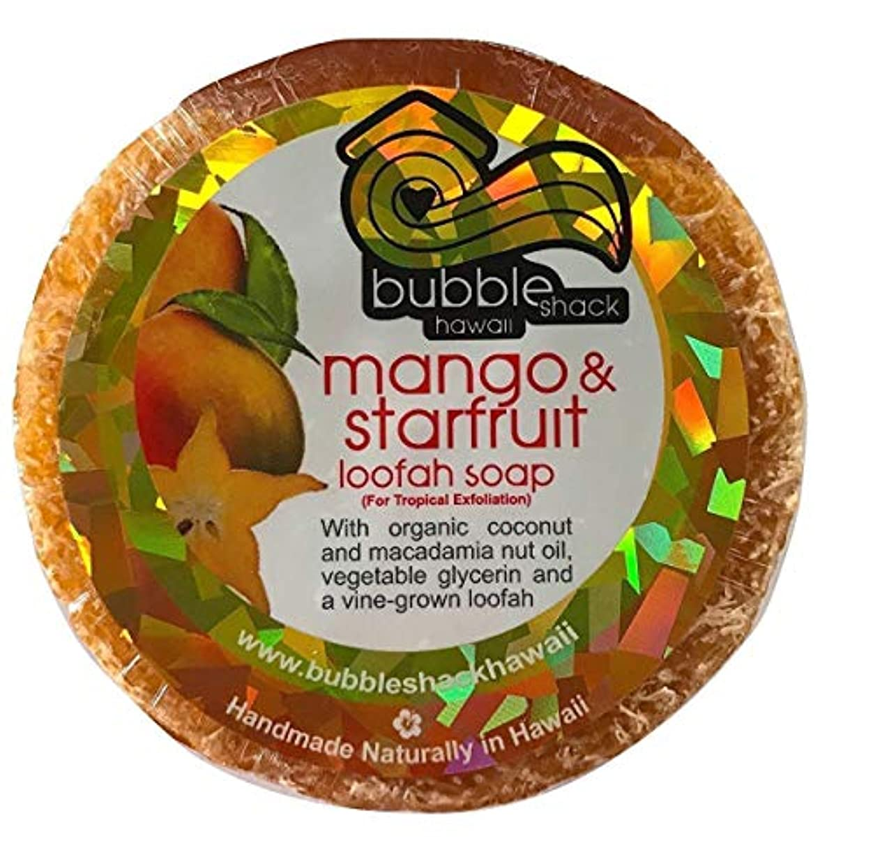 対話ピストンめるハワイアン雑貨/ハワイ 雑貨【バブルシャック】Bubble Shack Hawaii ルーファーソープ(マンゴ&スターフルーツ) 【お土産】