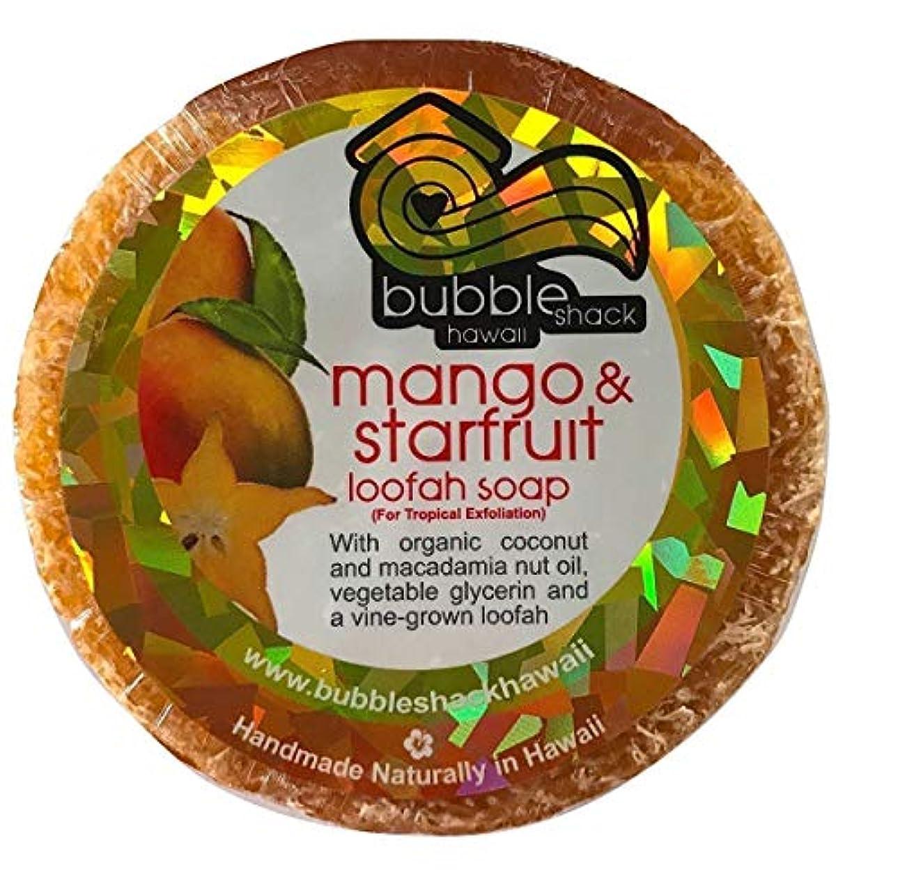 ギター浸漬迷信ハワイアン雑貨/ハワイ 雑貨【バブルシャック】Bubble Shack Hawaii ルーファーソープ(マンゴ&スターフルーツ) 【お土産】