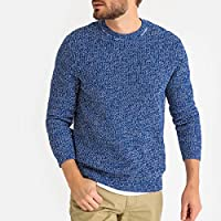 La Redoute Collections Mens Fine Knit Ribbed Cotton Jumper/Sweater