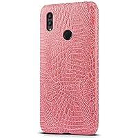 Huawei Honor Note 10ケース 【SLEO】Huawei Honor Note 10レザー 軽量 スマホケース レンズ保護 復古調 本革 Huawei Honor Note 10カバー 薄型 保護カバー(ピンク)