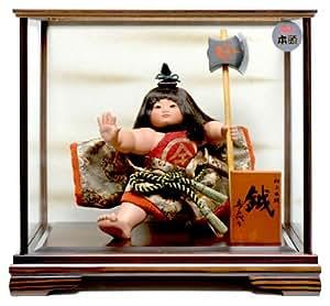 【武者人形】金太郎 鉞: 寿喜代作【五月人形】【ご進物ケース】
