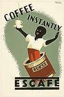 Posterazzi ポスタープリントコレクション 早期広告 インスタントコーヒー P.R. Dicks (24 x 36) マルチカラー