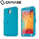 CAPDASE 【ストラップホール, 回転スタンド機能 つき】 日本正規品 GALAXY Note3 docomo SC-01F / au SCL22 Folder Case Sider V-Baco Blue / Blue FCSGNOTE3-1V33