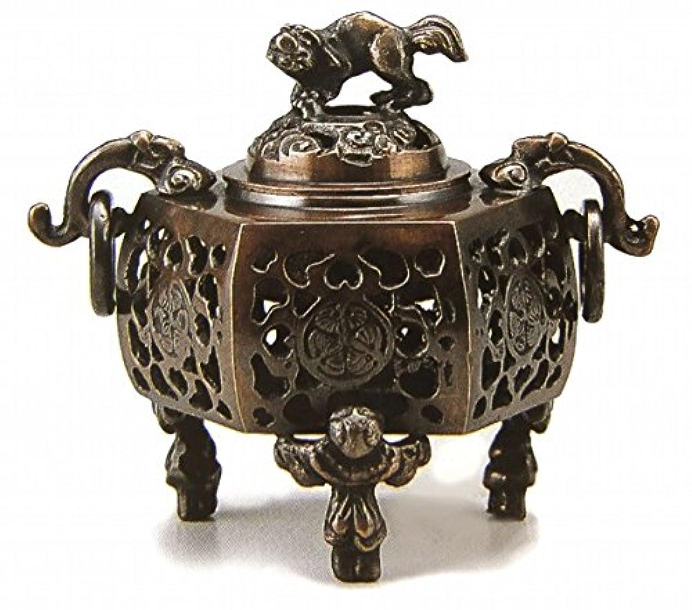 ケーブルカー気分広大な『葵?香炉』銅製