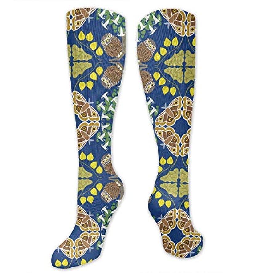 砲兵産地ゲスト靴下,ストッキング,野生のジョーカー,実際,秋の本質,冬必須,サマーウェア&RBXAA Moth and Owl Socks Women's Winter Cotton Long Tube Socks Cotton Solid...
