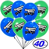 ビデオゲームがテーマの風船 子供&大人用 ゲーマー誕生日パーティーに最適 バルクパック 40個入り
