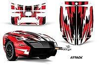 AMR Racing Graphics Can - Am Spyder自由トレーラーロードスタービニールラップキット–Attackレッド