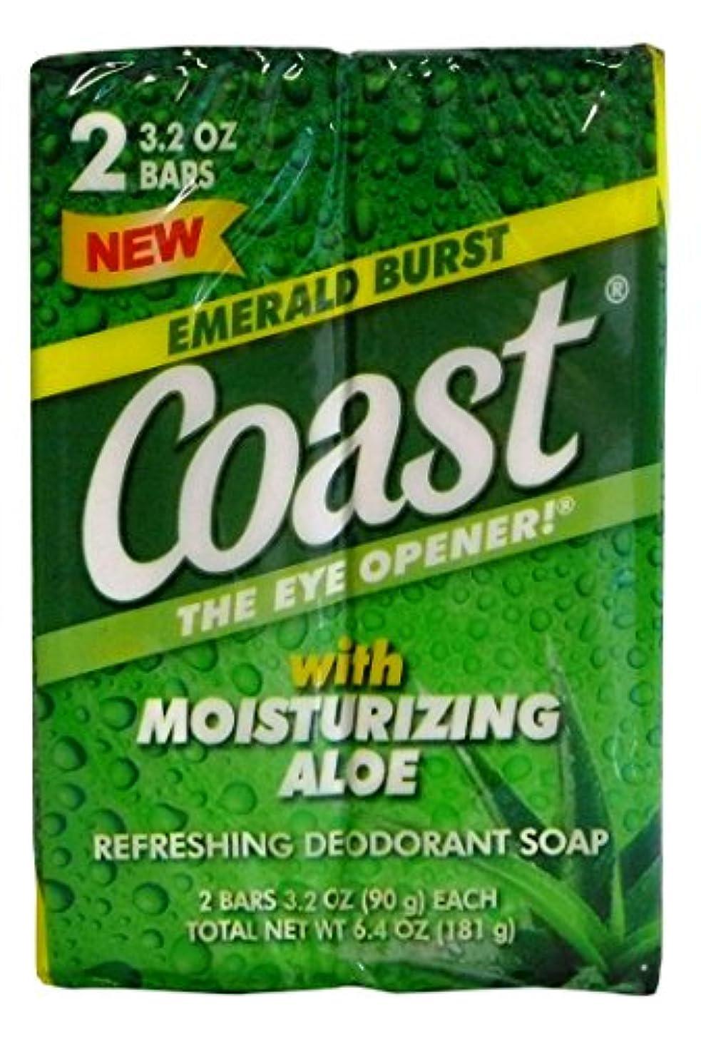 落ち着かない嫌な窒息させるコースト 固形石鹸 エメラルドバースト 90g 2個入