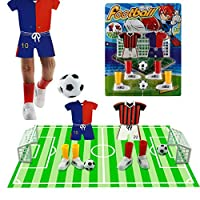 Alasida Finger Football Game Sets with Two Goals Funny Family Party Finger Soccer Game [並行輸入品]