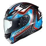 オージーケーカブト(OGK KABUTO)バイクヘルメット フルフェイス SHUMA FROZE(フローズ) ブラックブルー (サイズ:M)