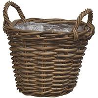 ラタンバスケット モンデリック ハンドルバスケット Ф25cm
